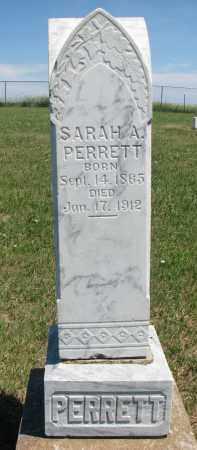 PERRETT, SARAH A. - Bon Homme County, South Dakota   SARAH A. PERRETT - South Dakota Gravestone Photos
