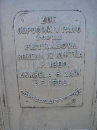PETRASOVA, ZOFIE (CLOSEUP) - Bon Homme County, South Dakota | ZOFIE (CLOSEUP) PETRASOVA - South Dakota Gravestone Photos