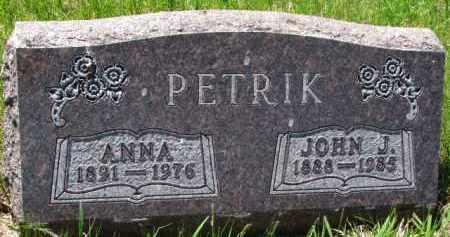 PETRIK, ANNA - Bon Homme County, South Dakota | ANNA PETRIK - South Dakota Gravestone Photos