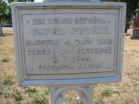 PETRIK, PAVEL (CLOSEUP) - Bon Homme County, South Dakota | PAVEL (CLOSEUP) PETRIK - South Dakota Gravestone Photos