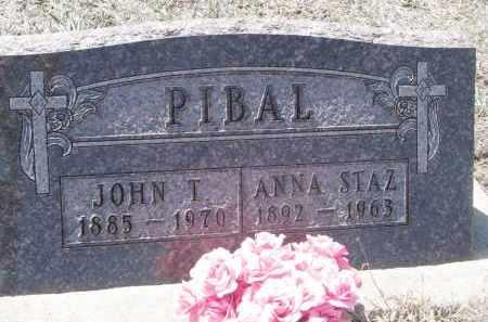 PIBAL, JOHN T. - Bon Homme County, South Dakota | JOHN T. PIBAL - South Dakota Gravestone Photos