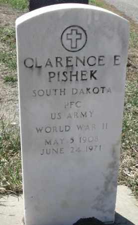 PISHEK, CLARENCE E. - Bon Homme County, South Dakota   CLARENCE E. PISHEK - South Dakota Gravestone Photos