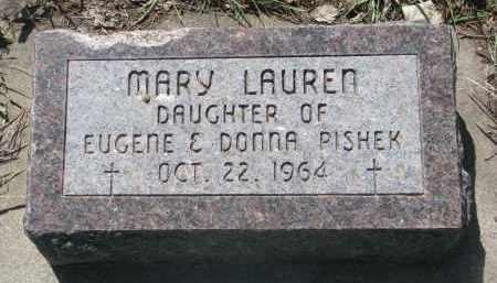 PISHEK, MARY LAUREN - Bon Homme County, South Dakota | MARY LAUREN PISHEK - South Dakota Gravestone Photos