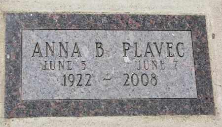 PLAVEC, ANNA B. - Bon Homme County, South Dakota | ANNA B. PLAVEC - South Dakota Gravestone Photos