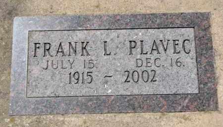 PLAVEC, FRANK L. - Bon Homme County, South Dakota | FRANK L. PLAVEC - South Dakota Gravestone Photos