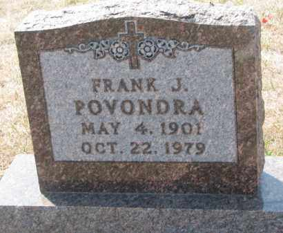 POVONDRA, FRANK J. - Bon Homme County, South Dakota | FRANK J. POVONDRA - South Dakota Gravestone Photos