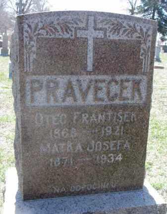 PRAVECEK, JOSEFA - Bon Homme County, South Dakota | JOSEFA PRAVECEK - South Dakota Gravestone Photos