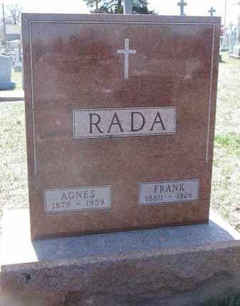 RADA, FRANK - Bon Homme County, South Dakota | FRANK RADA - South Dakota Gravestone Photos