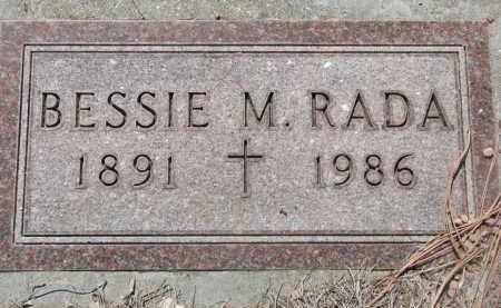 RADA, BESSIE M. - Bon Homme County, South Dakota | BESSIE M. RADA - South Dakota Gravestone Photos