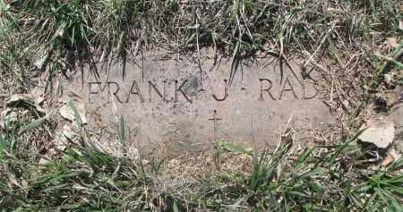 RADA, FRANK J. - Bon Homme County, South Dakota | FRANK J. RADA - South Dakota Gravestone Photos