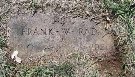 RADA, FRANK W. - Bon Homme County, South Dakota | FRANK W. RADA - South Dakota Gravestone Photos