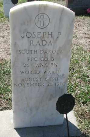 RADA, JOSEPH P. - Bon Homme County, South Dakota | JOSEPH P. RADA - South Dakota Gravestone Photos
