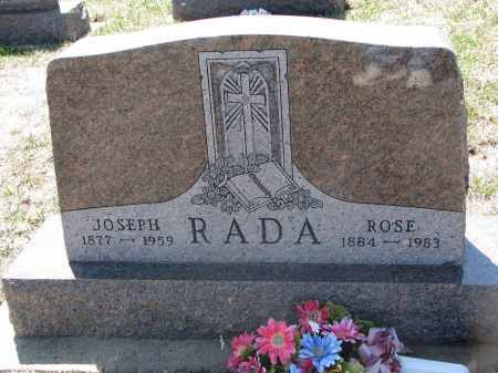 RADA, JOSEPH - Bon Homme County, South Dakota | JOSEPH RADA - South Dakota Gravestone Photos