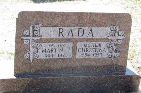RADA, CHRISTINA - Bon Homme County, South Dakota | CHRISTINA RADA - South Dakota Gravestone Photos