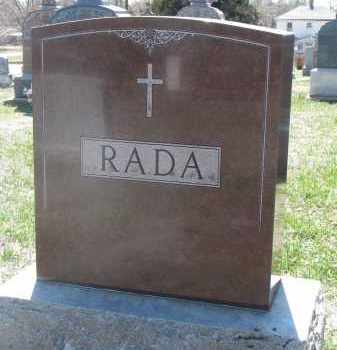 RADA, PLOT STONE - Bon Homme County, South Dakota | PLOT STONE RADA - South Dakota Gravestone Photos