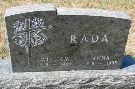 RADA, WILLIAM - Bon Homme County, South Dakota | WILLIAM RADA - South Dakota Gravestone Photos