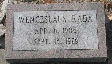 RADA, WENCESLAUS - Bon Homme County, South Dakota   WENCESLAUS RADA - South Dakota Gravestone Photos