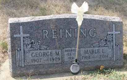 REINING, GEORGE M. - Bon Homme County, South Dakota | GEORGE M. REINING - South Dakota Gravestone Photos