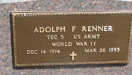 RENNER, ADOLPH F. (WW II) - Bon Homme County, South Dakota | ADOLPH F. (WW II) RENNER - South Dakota Gravestone Photos