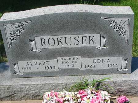 ROKUSEK, ALBERT - Bon Homme County, South Dakota | ALBERT ROKUSEK - South Dakota Gravestone Photos