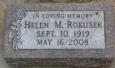 ROKUSEK, HELEN M. - Bon Homme County, South Dakota | HELEN M. ROKUSEK - South Dakota Gravestone Photos