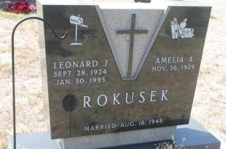 ROKUSEK, LEONARD J. - Bon Homme County, South Dakota   LEONARD J. ROKUSEK - South Dakota Gravestone Photos
