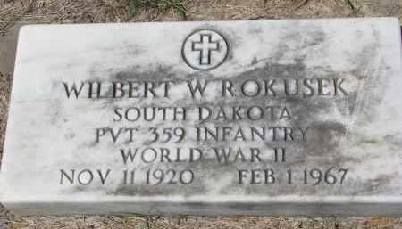 ROKUSEK, WILBERT W. - Bon Homme County, South Dakota | WILBERT W. ROKUSEK - South Dakota Gravestone Photos