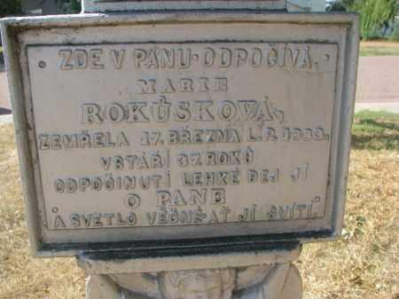 ROKUSKOVA, MARIE (CLOSEUP) - Bon Homme County, South Dakota | MARIE (CLOSEUP) ROKUSKOVA - South Dakota Gravestone Photos