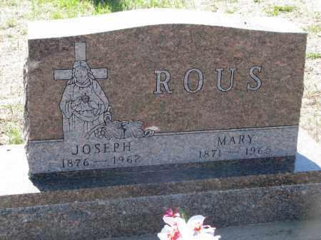 ROUS, JOSEPH - Bon Homme County, South Dakota | JOSEPH ROUS - South Dakota Gravestone Photos