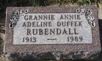 RUBENDALL, ADELINE - Bon Homme County, South Dakota | ADELINE RUBENDALL - South Dakota Gravestone Photos