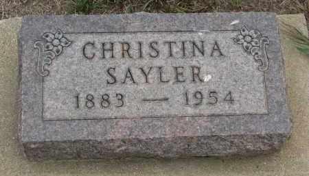 SAYLER, CHRISTINA - Bon Homme County, South Dakota | CHRISTINA SAYLER - South Dakota Gravestone Photos