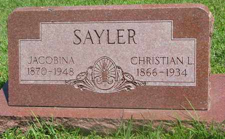 SAYLER, CHRISTIAN L. - Bon Homme County, South Dakota | CHRISTIAN L. SAYLER - South Dakota Gravestone Photos
