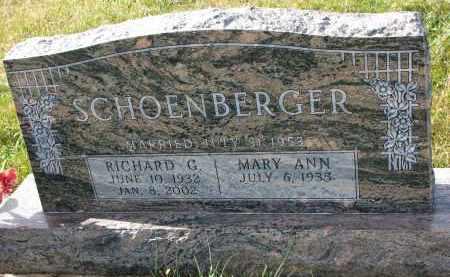 SCHOENBERGER, RICHARD G. - Bon Homme County, South Dakota | RICHARD G. SCHOENBERGER - South Dakota Gravestone Photos