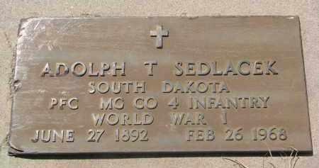SEDLACEK, ADOLPH T. (WW I) - Bon Homme County, South Dakota | ADOLPH T. (WW I) SEDLACEK - South Dakota Gravestone Photos