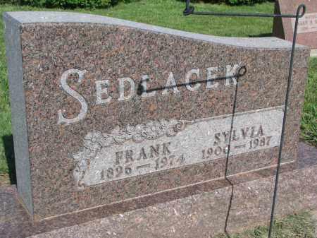 SEDLACEK, FRANK - Bon Homme County, South Dakota | FRANK SEDLACEK - South Dakota Gravestone Photos