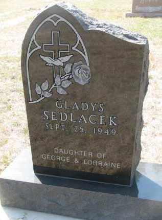 SEDLACEK, GLADYS - Bon Homme County, South Dakota | GLADYS SEDLACEK - South Dakota Gravestone Photos
