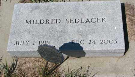SEDLACEK, MILDRED - Bon Homme County, South Dakota | MILDRED SEDLACEK - South Dakota Gravestone Photos