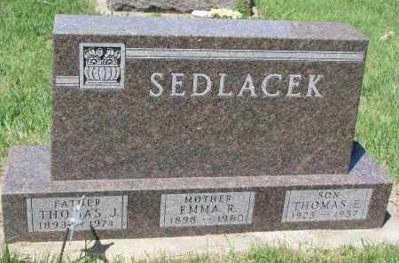 SEDLACEK, EMMA R. - Bon Homme County, South Dakota | EMMA R. SEDLACEK - South Dakota Gravestone Photos