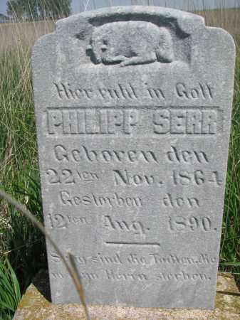 SERR, PHILIPP - Bon Homme County, South Dakota   PHILIPP SERR - South Dakota Gravestone Photos