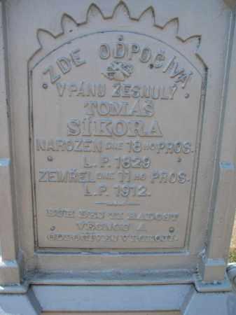 SIKORA, TOMAS (CLOSEUP) - Bon Homme County, South Dakota | TOMAS (CLOSEUP) SIKORA - South Dakota Gravestone Photos