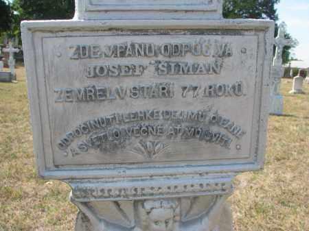 SIMAN, JOSEF (CLOSEUP) - Bon Homme County, South Dakota | JOSEF (CLOSEUP) SIMAN - South Dakota Gravestone Photos