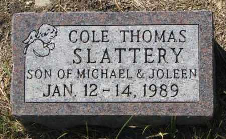SLATTERY, COLE THOMAS - Bon Homme County, South Dakota | COLE THOMAS SLATTERY - South Dakota Gravestone Photos