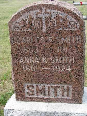 SMITH, CHARLES F. - Bon Homme County, South Dakota | CHARLES F. SMITH - South Dakota Gravestone Photos