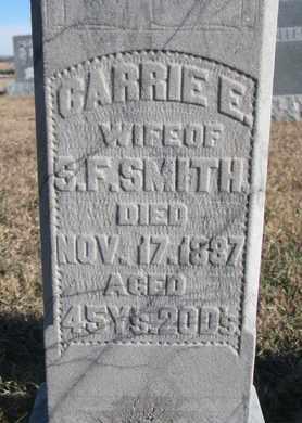 SMITH, CARRIE E. (CLOSEUP) - Bon Homme County, South Dakota | CARRIE E. (CLOSEUP) SMITH - South Dakota Gravestone Photos