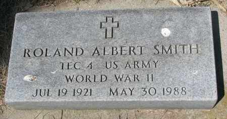 SMITH, ROLAND ALBERT - Bon Homme County, South Dakota | ROLAND ALBERT SMITH - South Dakota Gravestone Photos