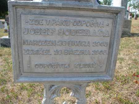 SOUHRADA, JOSEF (CLOSEUP) - Bon Homme County, South Dakota | JOSEF (CLOSEUP) SOUHRADA - South Dakota Gravestone Photos