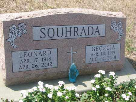 SOUHRADA, LEONARD - Bon Homme County, South Dakota | LEONARD SOUHRADA - South Dakota Gravestone Photos