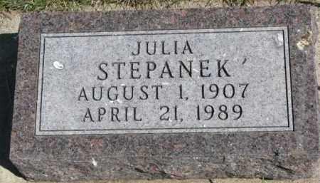 STEPANEK, JULIA - Bon Homme County, South Dakota | JULIA STEPANEK - South Dakota Gravestone Photos