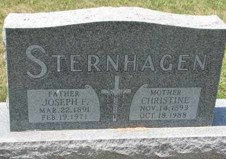 STERNAHGEN, CHRISTINE - Bon Homme County, South Dakota | CHRISTINE STERNAHGEN - South Dakota Gravestone Photos