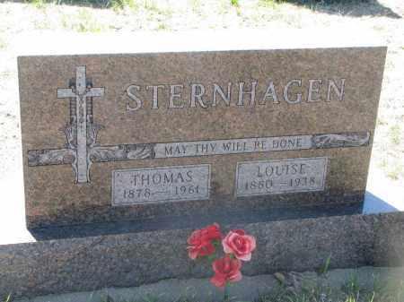 STERNHAGEN, LOUISE - Bon Homme County, South Dakota | LOUISE STERNHAGEN - South Dakota Gravestone Photos